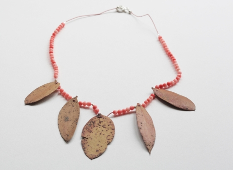 coral eucalypt necklace__4966