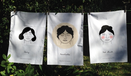 Menopause memorial ware tea towels dkg