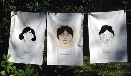 Menopause memorial ware tea towels dkg