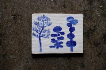 Japan trees postcard