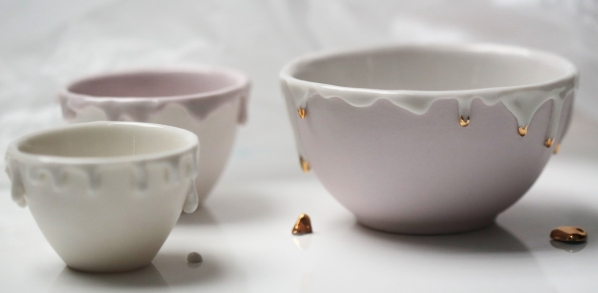 purple and gold drip pots_2870